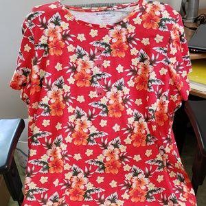 NWT Northcrest Hawaiian Design Ladies T-Shirt 2X